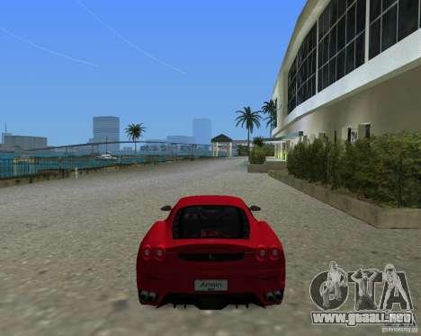 Ferrari F430 para GTA Vice City left