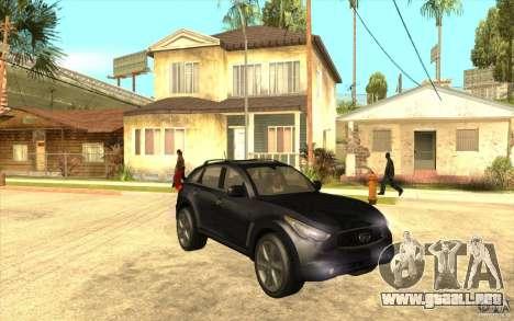 Infiniti FX50 Beta para GTA San Andreas vista hacia atrás