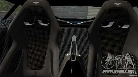 Aston Martin One-77 2012 para GTA 4 visión correcta