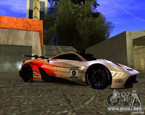 Pagani Huayra SHE para la visión correcta GTA San Andreas