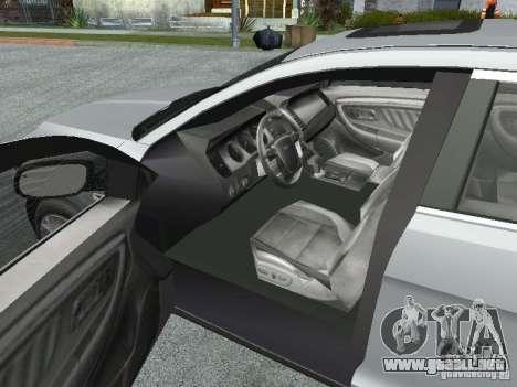 Ford Taurus para GTA San Andreas vista hacia atrás