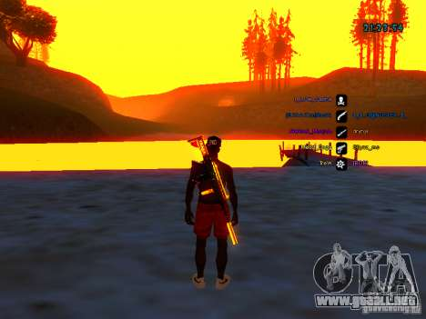 Paquete de piel para samp-rp para GTA San Andreas segunda pantalla