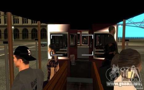 Enterable Tram v1.2 para GTA San Andreas left