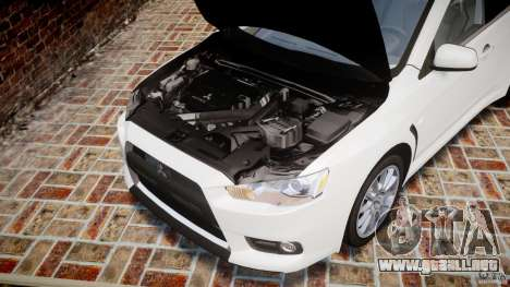 Mitsubishi Lancer Evolution X para GTA 4 vista interior