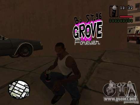 Nuevas bandas de graffiti para GTA San Andreas sucesivamente de pantalla