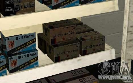 Tienda de armas e. k. S. T. A. L. R para GTA San Andreas quinta pantalla
