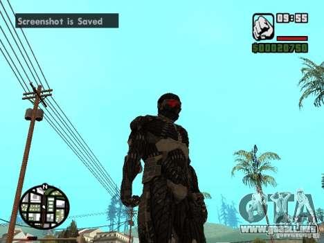 Crysis Nano Suit para GTA San Andreas tercera pantalla