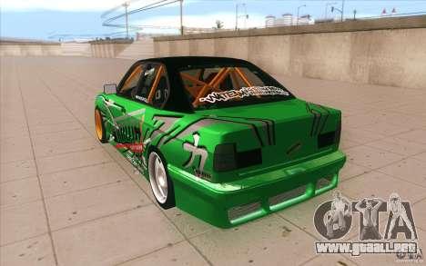 BMW E34 V8 Wide Body para GTA San Andreas vista posterior izquierda