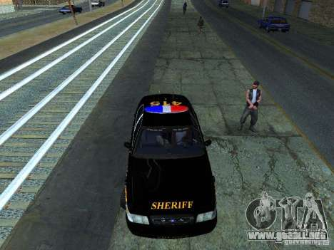 Ford Crown Victoria Erie County Sheriffs Office para GTA San Andreas left