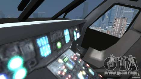 Sikorsky UH-60 Black Hawk para GTA 4 vista interior
