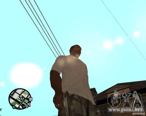 Manos normales CJâ para GTA San Andreas tercera pantalla