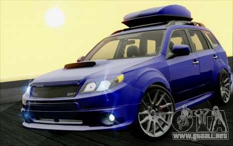 Subaru Forester RRT sport 2008 para visión interna GTA San Andreas