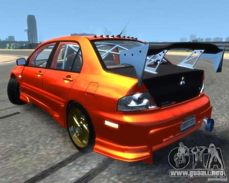 Mitsubishi Lancer Evolution IX MR para GTA 4 left