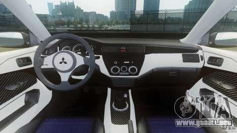 Mitsubishi Lancer Evo 2004 para GTA 4 vista hacia atrás