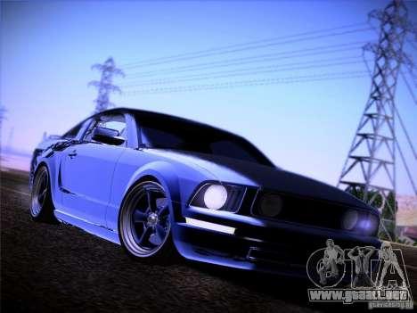Ford Mustang GT 2005 para visión interna GTA San Andreas