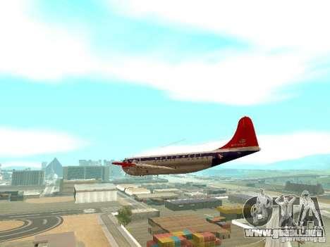 Boeing 377 Stratocruiser para la visión correcta GTA San Andreas