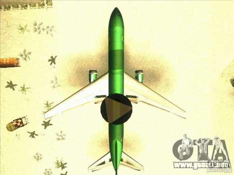 Boeing E-767 para visión interna GTA San Andreas