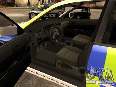 Mitsubishi Lancer EVO 8 Uk Policecar para GTA San Andreas vista posterior izquierda