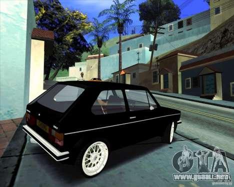 Volkswagen Golf MK 1 para GTA San Andreas vista hacia atrás