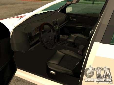 Cadillac CTS 2003 Tunable para GTA San Andreas vista posterior izquierda