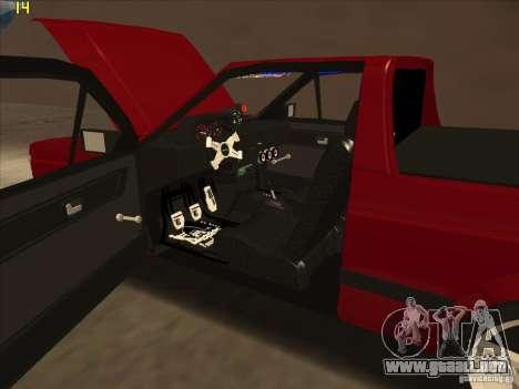 Volkswagen Saveiro Summer para visión interna GTA San Andreas