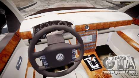Volkswagen Phaeton W12 Long para GTA 4 vista superior