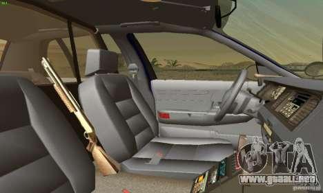 Ford Crown Victoria Masachussttss Police para GTA San Andreas vista posterior izquierda