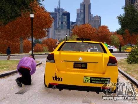 Holden NYC Taxi V.3.0 para GTA 4 Vista posterior izquierda