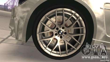 BMW 1M E82 Coupe 2011 V1.0 para visión interna GTA San Andreas