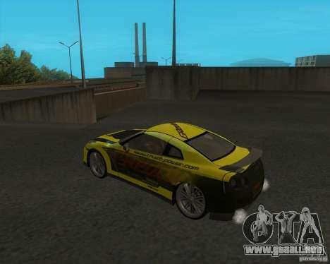Nissan GTR35 para GTA San Andreas left