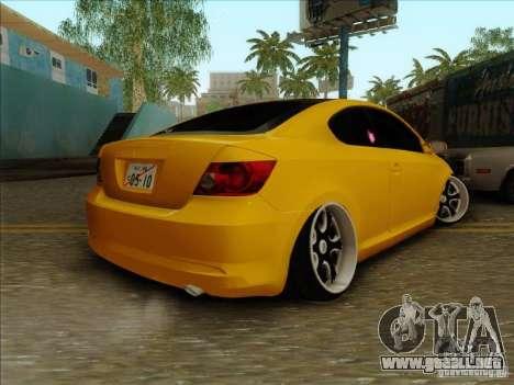 Scion tC 2012 para GTA San Andreas left