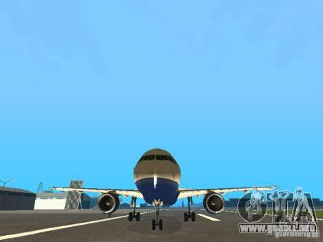 Airbus A320 British Airways para GTA San Andreas vista hacia atrás