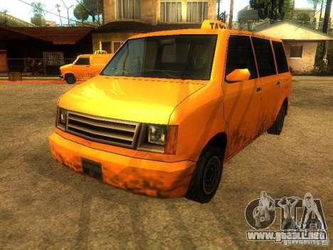 Taxi Moonbeam para GTA San Andreas left