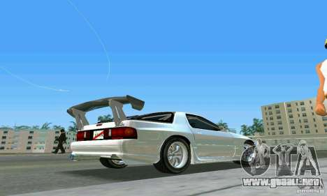 Mazda Savanna RX-7 FC3S para GTA Vice City vista lateral izquierdo