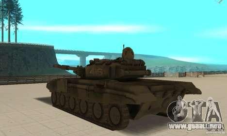 Tanques t-90 para GTA San Andreas vista posterior izquierda