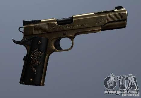 Golden 1911 para GTA San Andreas sucesivamente de pantalla