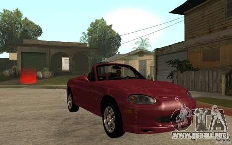 Mazda MX5 - Stock para GTA San Andreas vista hacia atrás