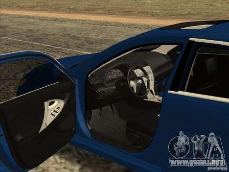 Toyota Camry para visión interna GTA San Andreas