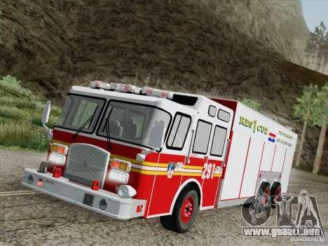 E-One F.D.N.Y Fire Rescue 1 para vista inferior GTA San Andreas