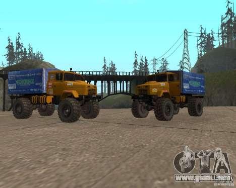 KRAZ Monster para GTA San Andreas vista posterior izquierda