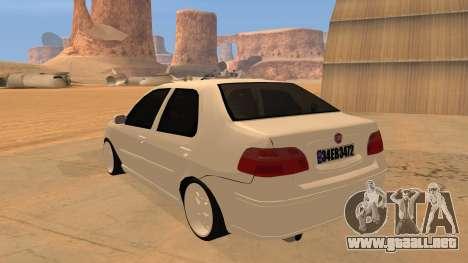 Fiat Albea para GTA San Andreas vista posterior izquierda