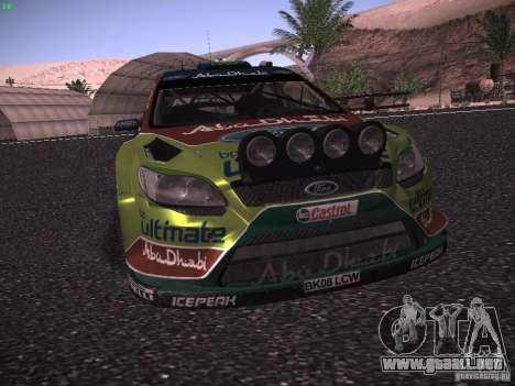 Ford Focus RS WRC 2010 para la vista superior GTA San Andreas