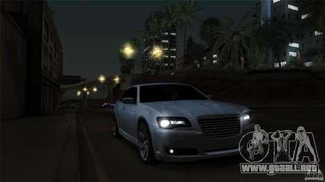 Chrysler 300C V8 Hemi Sedan 2011 para la vista superior GTA San Andreas