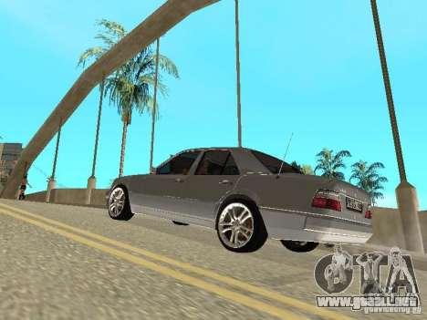 Mercedes-Benz W124 E500 para visión interna GTA San Andreas