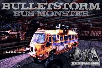 Bullet Storm Bus para la visión correcta GTA San Andreas
