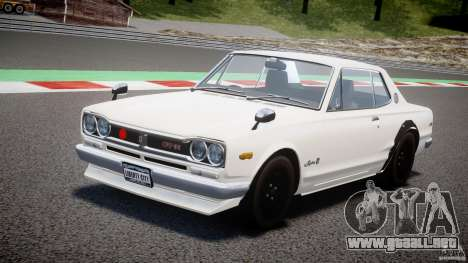 Nissan Skyline 2000 GT-R para GTA 4 vista superior