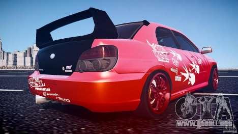 Subaru Impreza WRX STI para GTA 4 vista desde abajo