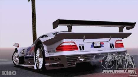 Mercedes-Benz CLK GTR Road Carbon Spoiler para la vista superior GTA San Andreas