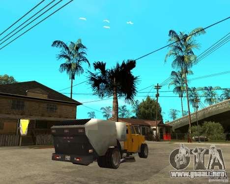 Camión de limpieza para GTA San Andreas vista posterior izquierda