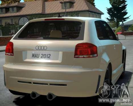 Audi S3 v2.0 para GTA 4 visión correcta